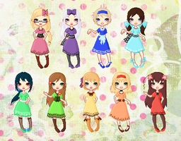 Hetalia Girls Dress Collection by cutepiku