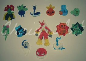 Broches pokemon by NelWiipii