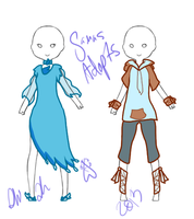 Outfit adoptables! 1/2 OPEN! by Samas-adopts