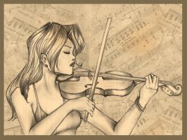 The Violin by CandyGirlxD