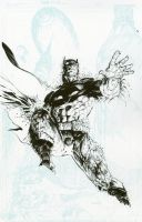 Jim Lee Batman inks by LiamSharp