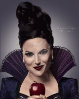 Regina The Evil Queen (Original Background) by Ivy1000