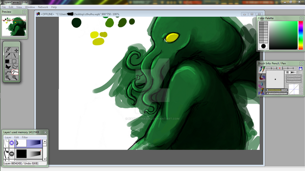 Cthulhu WIP by paronomasial
