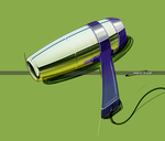 Digital hairdryer by w0lfb0i