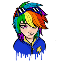 human Rainbow dash by Ari-Cat1998