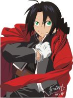 Black hair Edward Elric by inochisidarta