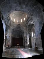 Inside the church at Tatev by coshipi