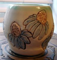 Cone Flower Vase by Stormphyre
