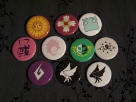 Buttons: Ace Attorney set by Quatrina