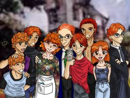 Weasley Family Portrait by Lokotei