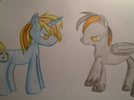 .:Commission:. Stare contest by Karokas