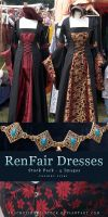 RenFair Dresses - Stock Pack by kuschelirmel-stock