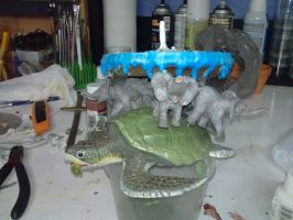The Great A'Tuin WIP Stage 10 side view by gmfate