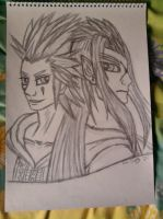 Axel and Saix sketch. by lustyvampire