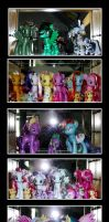 My little pony G4 Collection Display by Ilona-the-Sinister