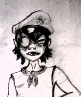 2D and his hat by The-Cyclops