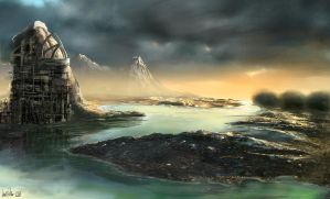 iPad Matte Painting by nuevemonos