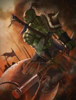 Orc warrior: Card Game ill ( available for sale) by dante2906
