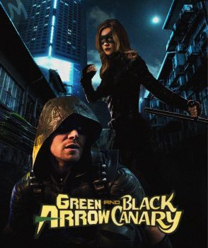 Green Arrow and Black Canary by mayfuite