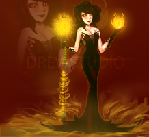 Adoptable Sorceress [OPEN] by Drewstudio