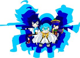 favorite Blue haired bladers [wallpaper] by Carol-aredesu