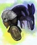 Hiccup and Toothless by The-Divine-Fool