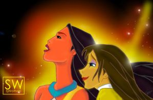 Pocahontas and Jane by sjwolfson