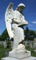Mount Olivet Cemetery Archangel Uriel 72 by Falln-Stock