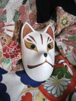 Japanese traditional mask fox by RINrumiKA