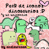 Pack de iconos dinosaurios :D by Analaurasam