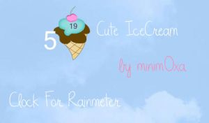IceCream Skin For Rainmeter by Minim0xa
