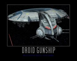 Star Wars The Clone Wars Droid Gunship by Onikage108