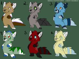 Chibi Fox Adoptables 12 [CLOSED - RARE BATCH] by DarkWolf9875