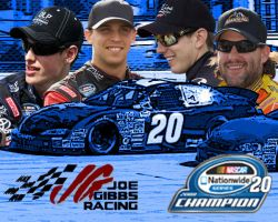 Joe Gibbs Racing Hero Card by nascarstones