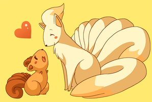 Vulpix and Ninetails by Pace-Eterna