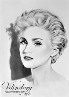 Madonna - pencil drawing by vilindery