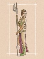 Slave Leia by Spencey