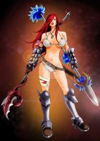 Fairy Tail Erza - Coloured by BeastWithinMe