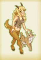 Freya and her Bobcat by Mermaid-Kalo