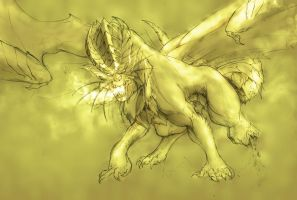 Sketche Meme1 Gold Dragon by Manganiac