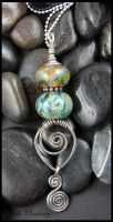Lampwork and Sterling Pendant - Dream Quest by andromeda