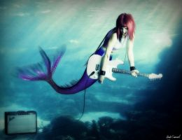 Rock n Roll Mermaid by nikkidoodlesx3