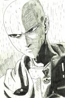 Saitama in the rain by Wessel