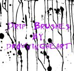 drip brushes by drowningheart-stock
