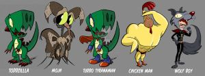 Toddzilla Character Designs by Gadworx