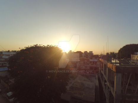 Sunset in Bengaluru by Movlance
