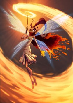 Fairy of Fire by falingard