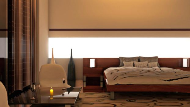 Bedroom Night Render by swatches-of-puRple