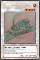 Terrier the Synchro Locomotive card by A5L