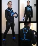 Adobe Photoshop in the style of Tron by Luthie13